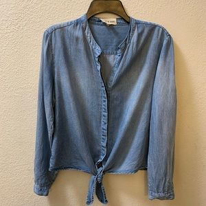 Anthropologie Cloth & Stone Front Tie Longsleeve